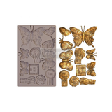"""Re•Design Decor Mould by Prima - Butterfly In Flight 5x8"""" With examples"""