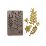 """Re•Design Decor Mould by Prima - Leafy Blossom 5x8"""" With examples"""