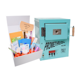 Metal Clay Diamond Deluxe Starter Kit - with Signature Teal Pro1-PRG Kiln The kiln is pre-programmed with our tested and tried reliable programs for silver, glass, and more. You can still set all your own programs if you wish, but this will get you started quickly without any stress!