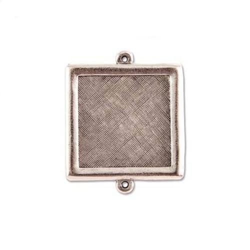 Square Link Bezel - Antique Silver - 30mm