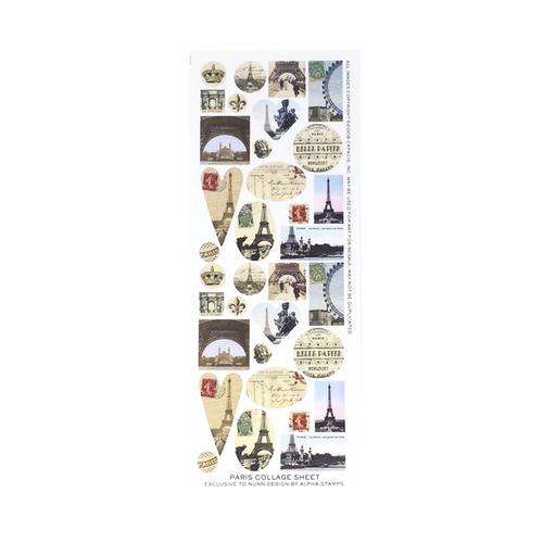 Collage Sheet - Paris