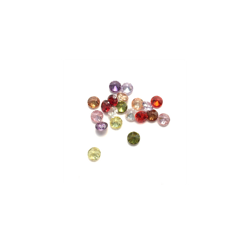 Lab Created Gempack - 3mm Mixed Colours (20 stones)