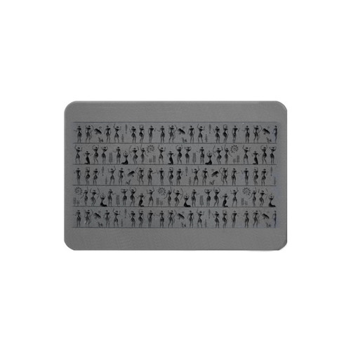Rollable Texture Tile - Ancient People Fineline