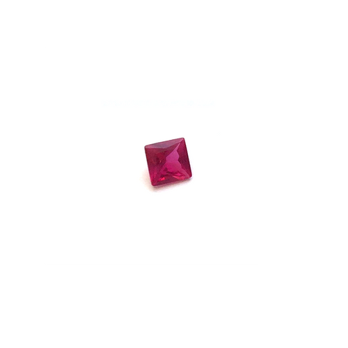 Lab Created Gemstone - Ruby Square