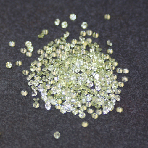 Lab Created Gemstone - Lime Round 3mm (Non-fireable)