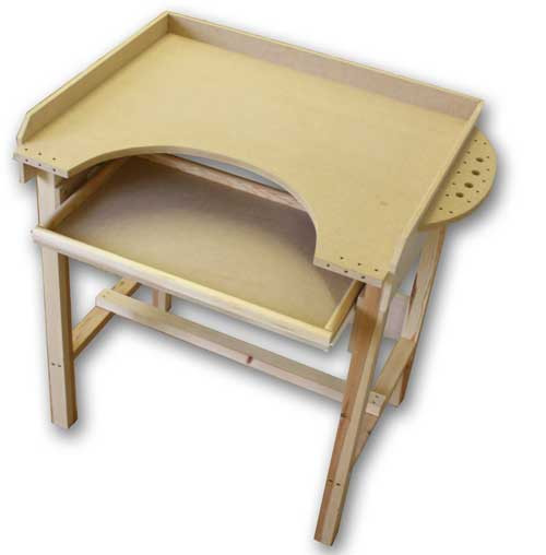 MDF Jewellers Bench with optional drawer (Not included)