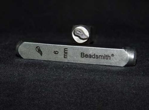 Left Bird Wing Design Stamp 6mm