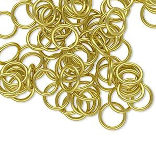 Bright Gold Brass Jump Ring - 8mm - 100pcs