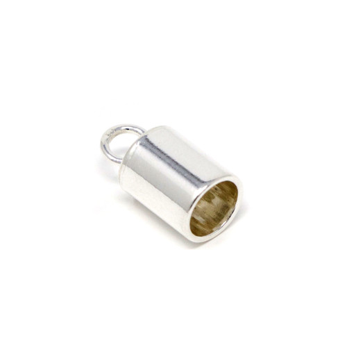 2pc Sterling Silver Glue-In Cord Ends