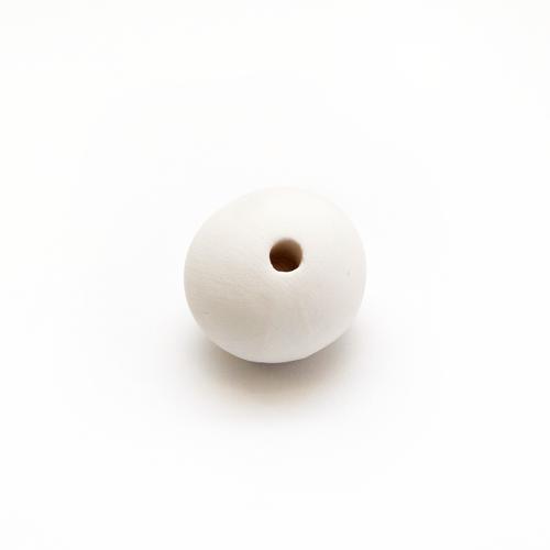 Ceramic Bead Unglazed - Medium Round