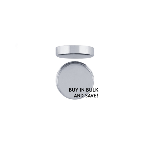 Bezel Cup Plain Round - Fine Silver - 3mm