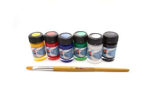 Marabu Porcelain Paints - Set of 6