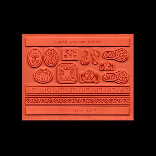 Wanaree Tanner Signature Texture Plate - Celtic 4 - Trinity Tree of Life