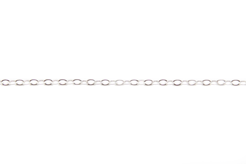 Sterling Silver 1.3mm Flat Cable Chain (Per 30cm)