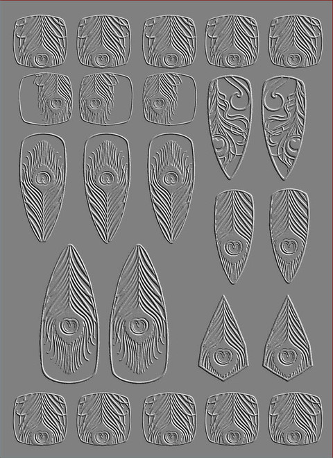 RMR Laser Texture Paper - Peacock - 127 x 178mm