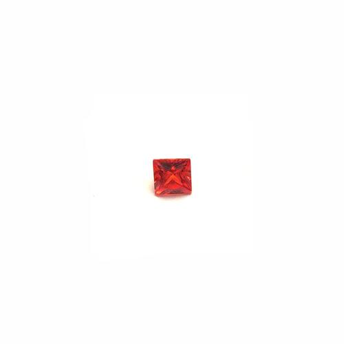 Lab Created Gemstone - Padparadscha Square