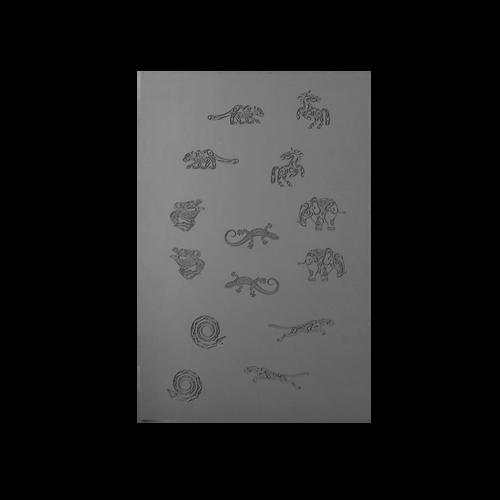 Jewellery Artist Elements Texture Sheet - Land Creatures