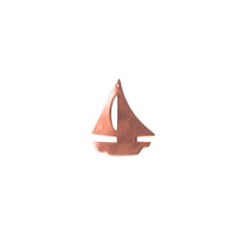 Copper Blank - Sailing Ship - 31 x 39mm