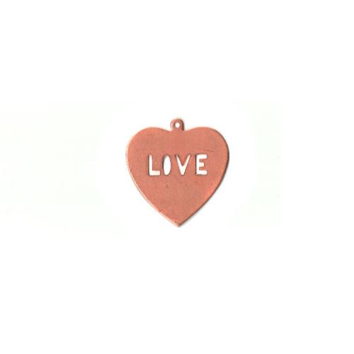 Copper Blank - Love Heart - 36 x 39mm