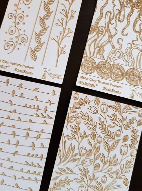 RS Laser Texture Paper -Spring Florals