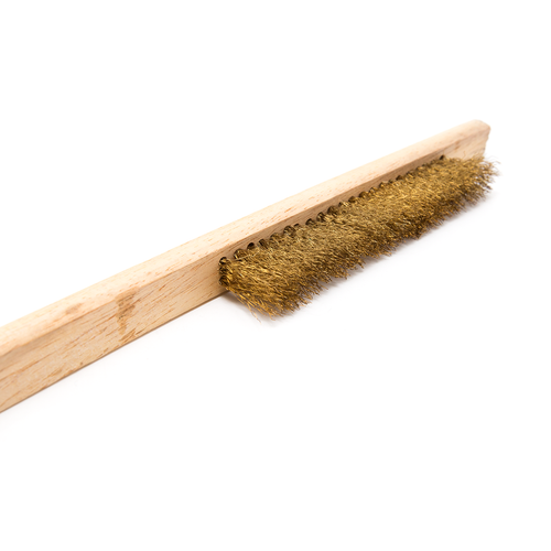 Brass Brush - Narrow, 23cm, 3 Row, 1.6cm Long