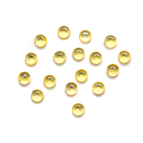 Round Cabochon - CZ Yellow - 3mm (Non-fireable)