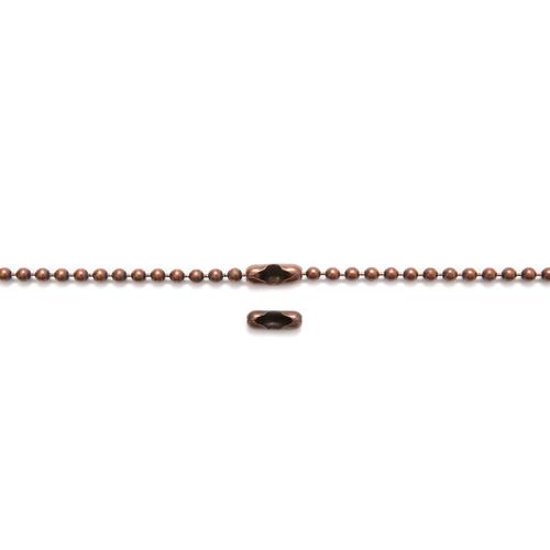 Antique Copper Ball Chain - 68cm