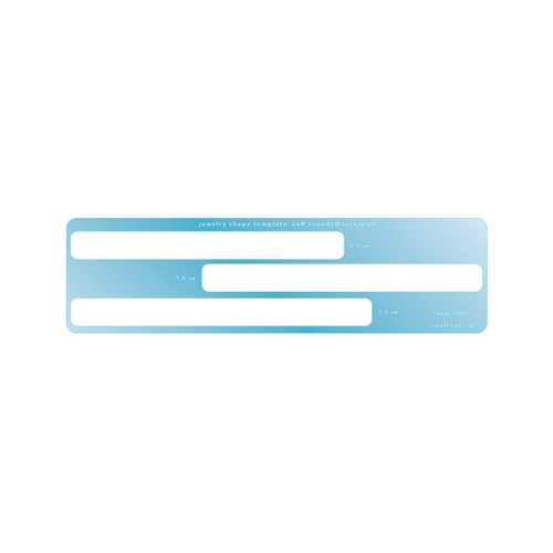 Rounded Rectangle Cuff template by CoolTools