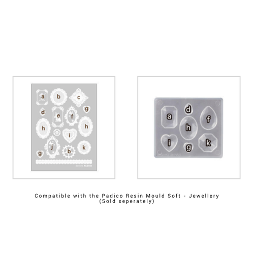 Compatible with the Padico Jewellery Shapes Soft Mould for Resin.