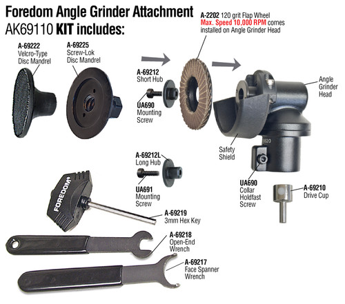 """Foredom Angle Grinder Attachment 2"""""""
