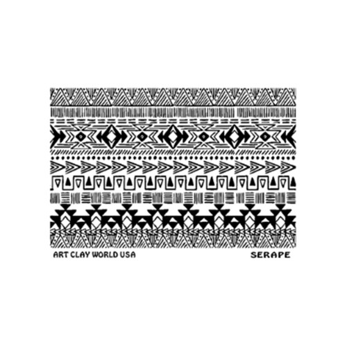 FlexiStamp titled Serape (Positive) by Artclay.
