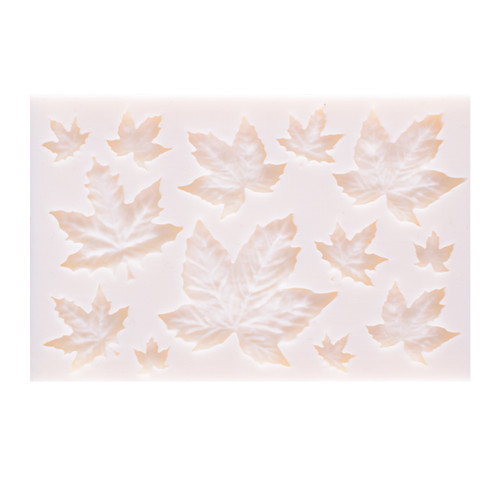 Silicone Mould - Maple Leaf 13 Kinds