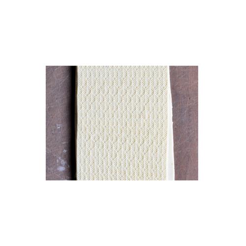 Acrylic Texture Fine Line Roller (KRFL) - Leaf Pattern - 7.5cm - Example