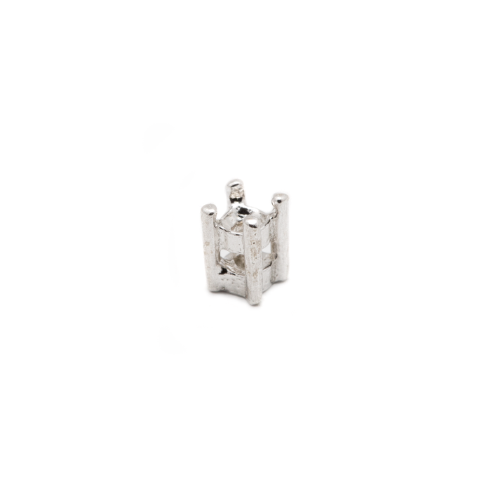 Fine Silver Prong Setting - Round - 2mm