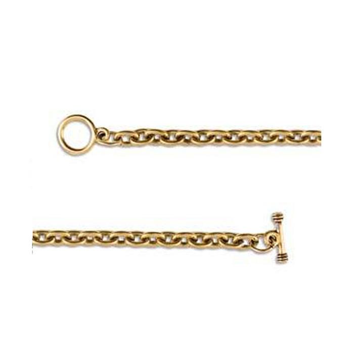 Charm Bracelet - Antique Gold - 190mm