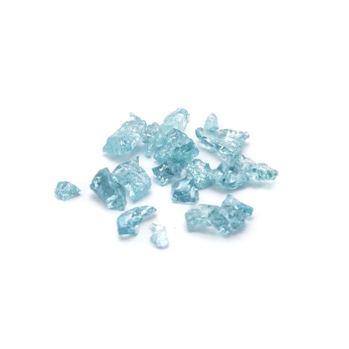 Aqua Blue Mineral Accents