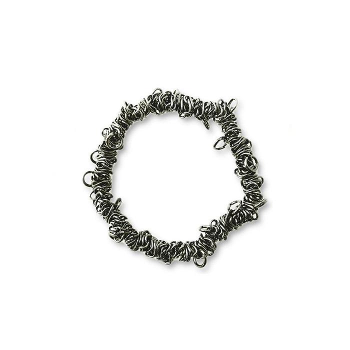 Bungee Stretch Bracelet - Black Metal