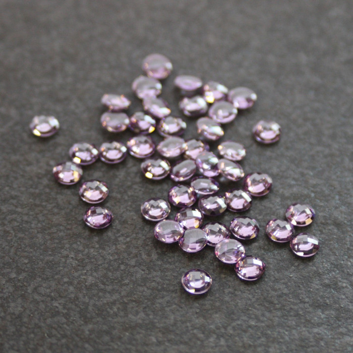 *Limited Stock* Lab Created Gemstone - Light Amethyst Round 5mm