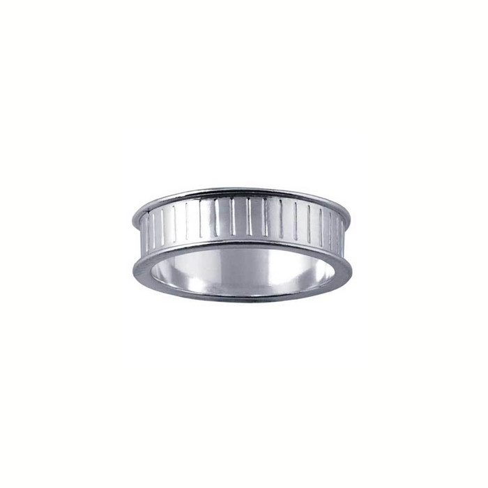 Ring Core 6mm wide - Channel - Silver - UK Size T 1/2