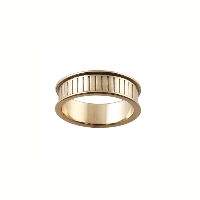 Ring Core 6mm wide - Channel - Bronze - UK Size N 1/2