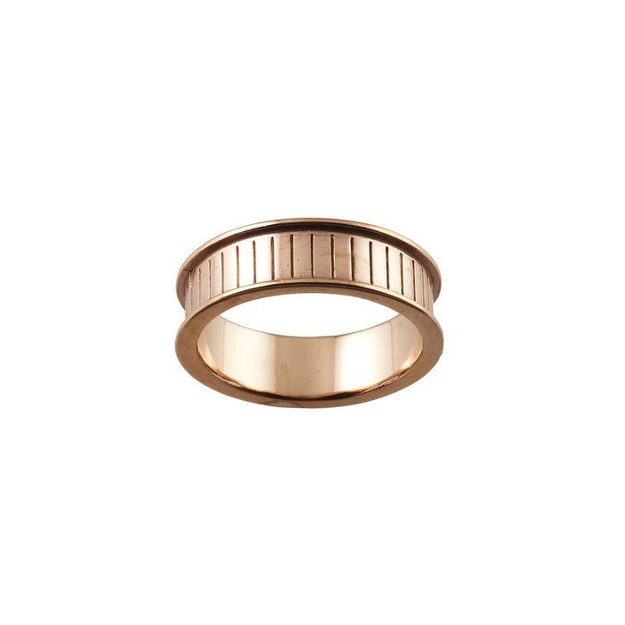 Ring Core 6mm wide - Channel - Copper - UK Size T 1/2