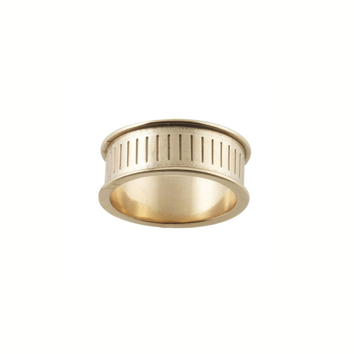 Ring Core 8mm wide - Channel - Bronze - UK Size N 1/2