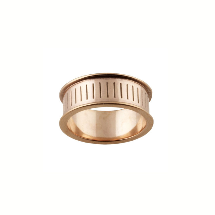 Ring Core 8mm wide - Channel - Copper - UK Size N 1/2