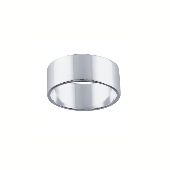 Ring Core 7.7mm wide - Smooth - Silver - UK Size N 1/2