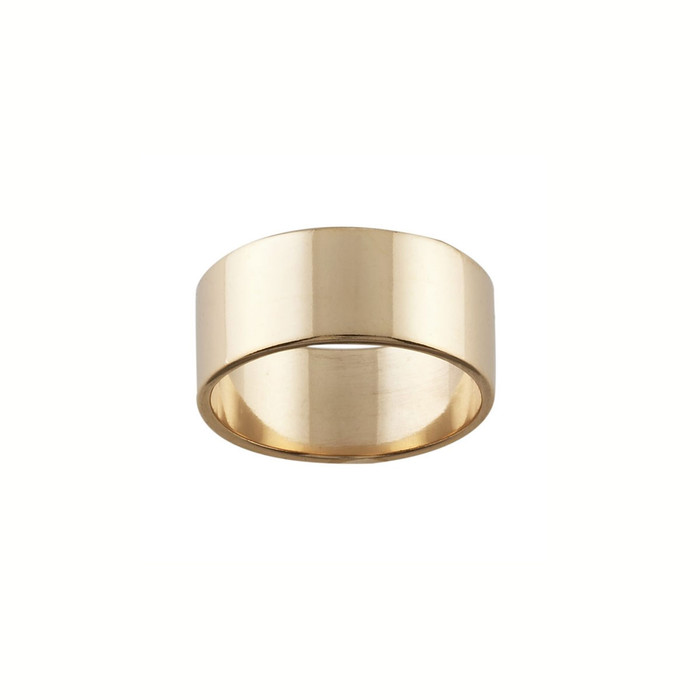 Ring Core 7.7mm wide - Smooth - Bronze - UK Size N 1/2