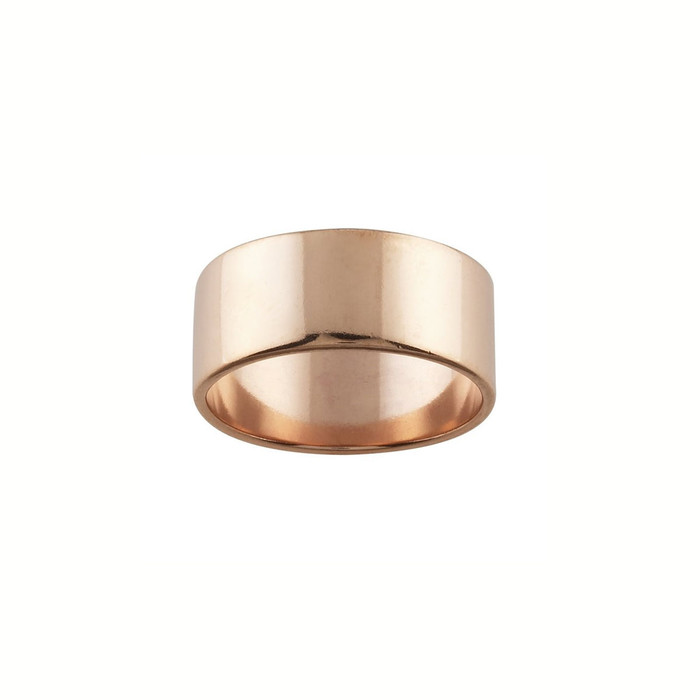 Ring Core 7.7mm wide - Smooth - Copper - UK Size N 1/2
