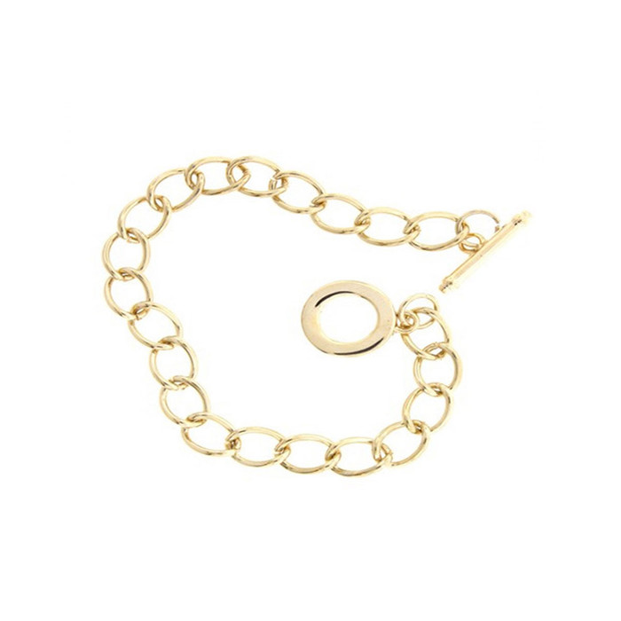 Charm Bracelet with Toggle Clasp - Champagne