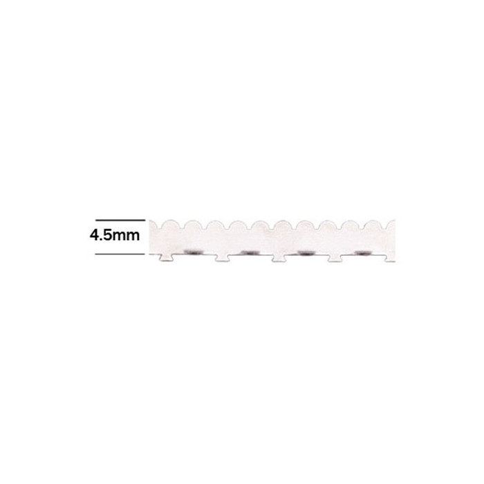 Fine Silver Wall Tabbed Scallop Edge Bezel Wire 4.5mm - 1ft