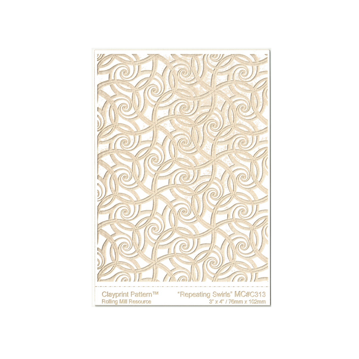 RMR Laser Texture Paper - Repeating Swirls - 76 x 102mm