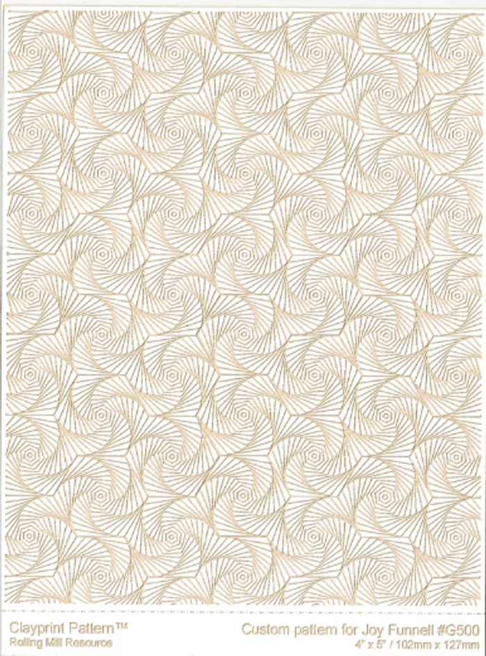 RMR Laser Texture Paper - Whirls of Joy - 102 x 127mm